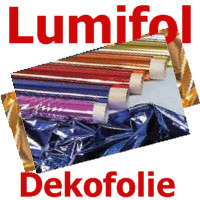 Folie Lumifol gold/silber 130 cm x 30 m Dekofolie Party