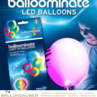 Latexballon Rund LED-Ballon pink dauerleuchtend Ø30cm Umf. 95/105cm 11inch