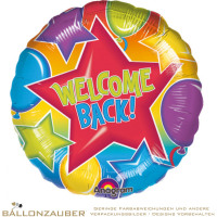 Folienballon Rund Welcome Back bunt 45cm = 18inch Ballon Luftballon