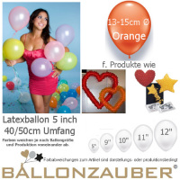 100 Qualitäts-Deko-Ballons Orange