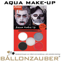 Schminke Aqua Make-Up Dracula Tod Vampir Set Halloween Karneval Horror Theater