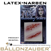 Latex-Narben in diversen Varianten Zombie Horror  Halloween Karneval Theater