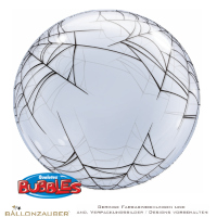 Folienballon Decobubble Spinnennetz transparent 61cm = 24inch Ballon Luftballon