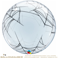 Folienballon Deco Bubble Spiders Web Transparent 60cm = 24inch