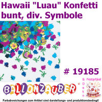 Konfetti Luau Hawaii Motive Party Dekoration Tischdeko