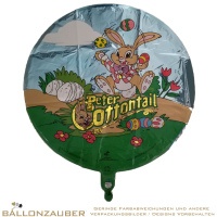 Folienballon Rund Peter Cottontail bunt 45cm = 18inch Ballon Luftballon