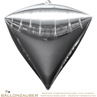 Folienballon Diamondz Silber Metallic 38cm = 15inch
