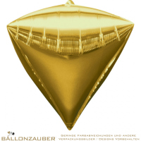 Folienballon Diamondz Gold Metallic 38cm = 15inch