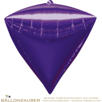 Folienballon Diamondz Lila Metallic 38cm = 15inch