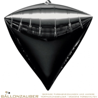 Folienballon Diamondz Schwarz Metallic 38cm = 15inch