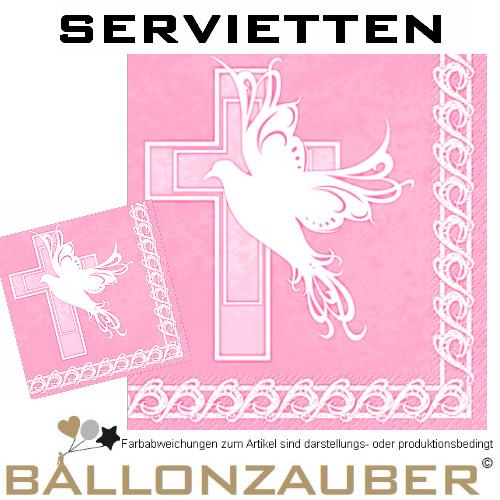 Servietten taube und kreuz taufe konfirmation kommunion dekoration partygeschirr ebay - Servietten dekoration ...
