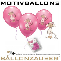 5 St. Motivballon be happy Motiv Jolly Mäh von Nici 30cm Ø Ballon Luftballon