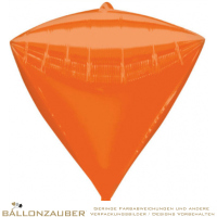 Folienballon Diamondz Orange Metallic 38cm = 15inch