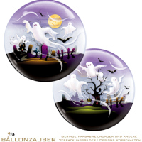 Folienballon Bubble Gespenster transparent bunt 56cm = 22inch Ballon