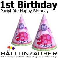 Partyhut Happy 1st Birthday Madchen Ladybug Kafer Geburtstag Party Deko Hute