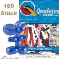 100 Modellierballons Q260 Traditional Assortment bunt Ø5cm Länge 150cm 60inch