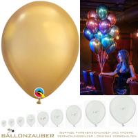 100 Latexballons Rund gold chrome Ø30cm 11inch