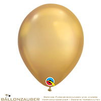Latexballon Rund Gold chrome Ø30cm = 11inch Umf. 95cm