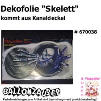 Dekofolie Skelett Klebefolie Aus Kanaldeckel Sticker Präsentiert Von