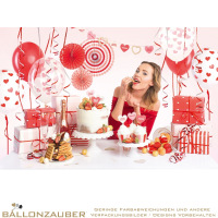 Partyset Box of Decorations Sweet Love bunt zum Valentinstag