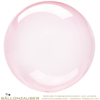 Folienballon Bubble Clearz Pink Transparent 46cm = 18inch Ballon Luftballon