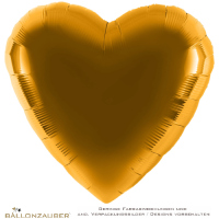 Folienballon Herz gold metallic 91cm = 36inch