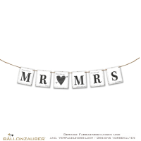 Girlande Mr. & Mrs. Banner zur Hochzeit Party Dekoration