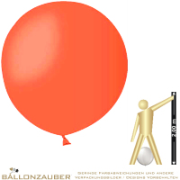 Latexballon Rund Riesenballon orange Ø55cm Umf. 150cm 21inch