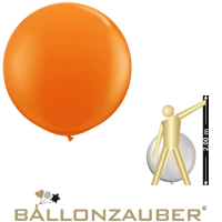 Latexballon Rund Riesenballon Orange Ø120cm Umf. 350cm 48inch Ballon Luftballon
