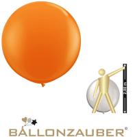 Latexballon Rund Riesenballon Orange Ø165cm Umf. 450cm 65inch Ballon Luftballon