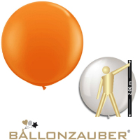 Latexballon Rund Riesenballon Orange Ø210cm Umf. 650cm 84inch Ballon Luftballon